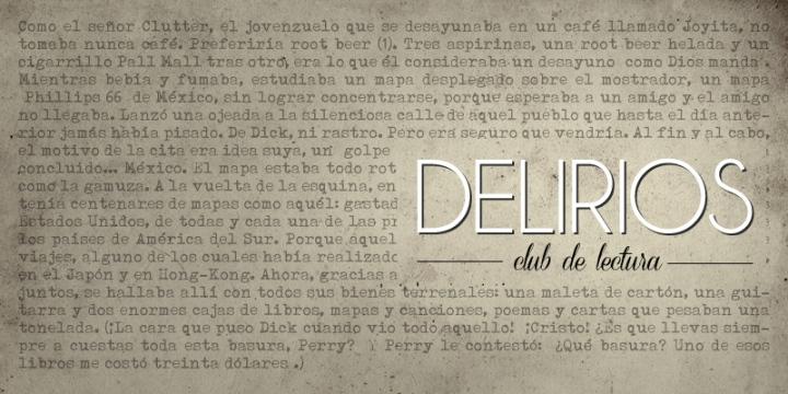 club de lectura Delirios